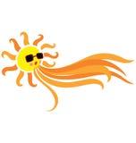 podmuchowy słońce ilustracji