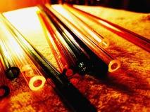 Podmuchowy szkło Dobierający barwiony Szklany tubing obrazy royalty free