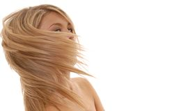 podmuchowy włosy Zdjęcie Stock