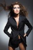 podmuchowy włosy modela wiatr Obraz Stock