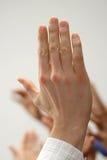 podnieść ręce Zdjęcia Royalty Free