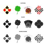 Podniecenie, kasyno, gra i inna sieci ikona w kreskówce, czerń, monochromu styl Cyganienie, rozrywka, odtwarzanie ilustracji