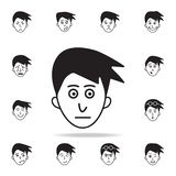 podniecenie na twarzy ikonie Szczegółowy set twarzowe emocji ikony Premia graficzny projekt Jeden inkasowe ikony dla stron intern ilustracja wektor