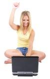 podniecenie online obraz stock
