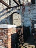 Podnośny most w fortecy Brescia fotografia royalty free