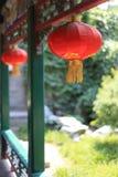 Podnosi Czerwonego Lampion Obraz Royalty Free