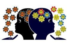 Podnosić optymistycznie lub pesymistycznych dzieciaków Obrazy Stock