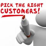 Podnosi Prawego klienta rynku docelowego Najlepszy Potencjalnej widowni ilustracji