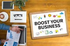 PODNOSI TWÓJ biznes ilustracji