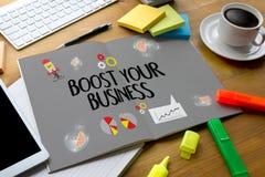 PODNOSI TWÓJ biznes, PODNOSI TWÓJ dochód, biznes, technologia, ilustracja wektor