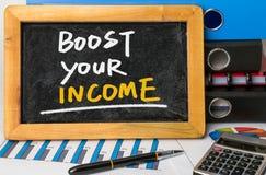 Podnosi twój dochód Obraz Stock