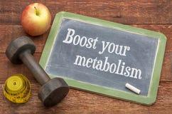 Podnosi twój metabolizmu blackboard znaka Zdjęcie Royalty Free