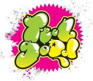 podnoszący na duchu graffiti Zdjęcie Royalty Free
