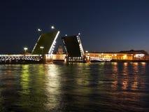podnoszenie mostu pałacu Obraz Stock