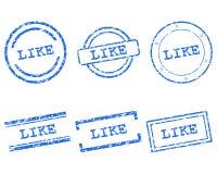 Podobieństwo znaczki Zdjęcie Royalty Free