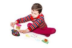 podobieństwo dziecka farby farby Obrazy Royalty Free