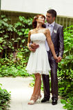 podobnej dziewczyny kochający romantyczny ślub Zdjęcia Royalty Free