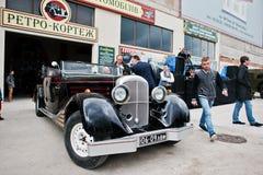 Podol,乌克兰- 2016年5月19日:迈巴赫策帕林飞艇DS 8跑车, l 免版税图库摄影