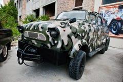 Podol, Ουκρανία - 19 Μαΐου 2016: Κλασικό σοβιετικό αναδρομικό αυτοκίνητο με το wo Στοκ Εικόνα