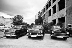 Podol, Украина - 19-ое мая 2016: Классические советские ретро автомобили GAZ M21 Стоковое Изображение RF