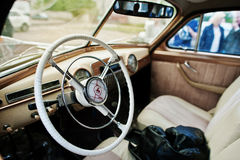 Podol, Ukraine - May 19, 2016: Dashboard and steering wheel of G Stock Image