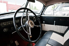 Podol, Ukraine - May 19, 2016: Dashboard and steering wheel of O. Pel Admiral Stock Images