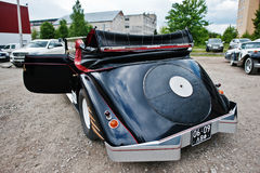 Podol, Ukraine - May 19, 2016: Rear view of Maybach Zeppelin DS Royalty Free Stock Photography