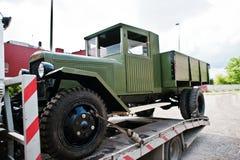 Podol, Ukraine - May 19, 2016: Soviet military truck ZIS-5 V, pr royalty free stock photo
