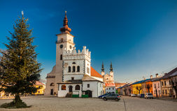 PODOLINEC,斯洛伐克, 2016年1月01日:Podolinec是一少许历史的 免版税库存图片