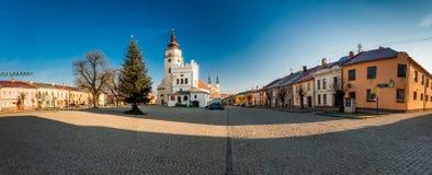 PODOLINEC SLOVAKIEN, 01 JANUARI 2016: Podolinec är lite historisk Royaltyfri Fotografi