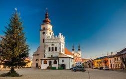 PODOLINEC, SLOVAQUIE, LE 1ER JANVIER 2016 : Podolinec est peu un historique Images libres de droits
