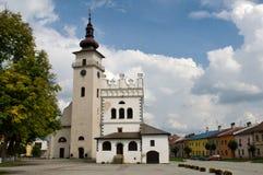 Podolinec stad i nordliga Slovakien Arkivbild