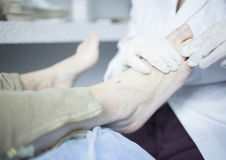 Podology podologist chiropody treatment clinic Stock Image
