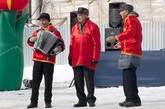 Drie olders het dansen Stock Afbeeldingen