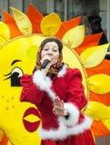 Chanteur et soleil Photo libre de droits