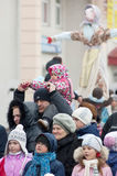 Maslenitsa is a family holiday stock images