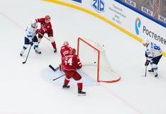 I. Saprykin 40 miss a goal Stock Images