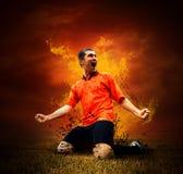 podpala futbolisty obrazy royalty free