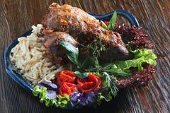 podpalająca mięsa baraniego mięsa Obrazy Stock