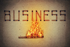 Podpalający biznes Obraz Stock