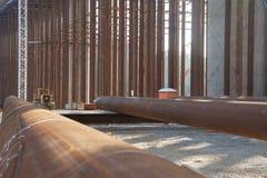 podpalana bridżowa budowa Fotografia Stock