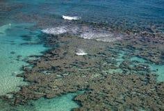 podpalana formacj hanauma Hawaii rafa Obrazy Royalty Free