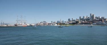 podpalana Francisco panoramy San linia horyzontu Zdjęcie Stock