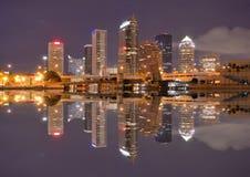 podpalana linia horyzontu Tampa Zdjęcia Royalty Free