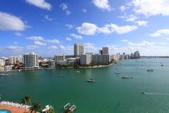 Podpalana strona Miami plaża Obrazy Royalty Free