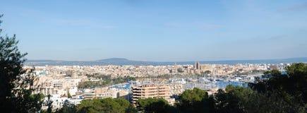 podpalanego de Mallorca palma panoramiczny widok Zdjęcia Stock