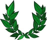 podpalani świezi ziele odizolowywający liść biały Zdjęcie Royalty Free