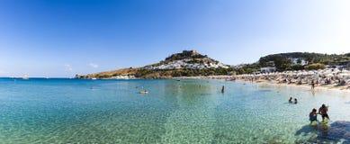 podpalani Greece wyspy lindos Rhodes Zdjęcie Stock