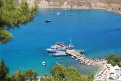 podpalani Greece wyspy lindos Rhodes Zdjęcia Royalty Free