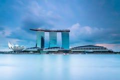 podpalani punkt zwrotny marina piaski Singapore Zdjęcia Royalty Free